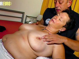 AMATEUR EURO  Dirty German Granny Karola Loves Hard Sex