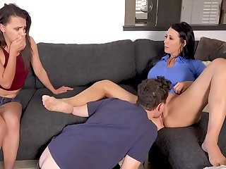 son makes a threesome with his mother and his sister  MOMSAW.COM