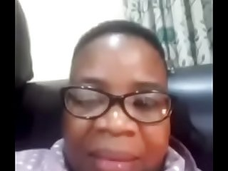 Mature sugar mama playing via video chat  South African