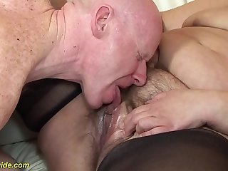 extreme hairy 78 years old bbw mom rough fucked
