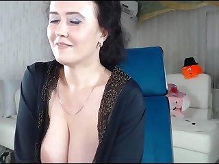 Cute big tit milf wet pussy dildo fucking on web on ChatGirls.cloud