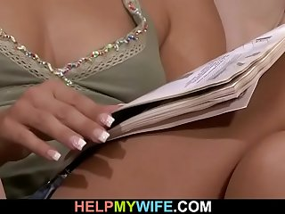 Guy fucks his young wife