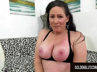 Busty Older Floozy Alexandra Silk Rides a Long Dick for a Generous Cumshot