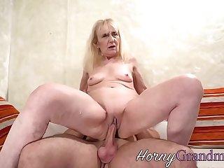 Grandmother sucking rod