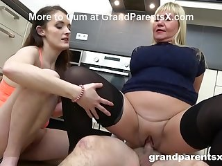 Teens Team Up with Grand Parents in Hardcore Orgy