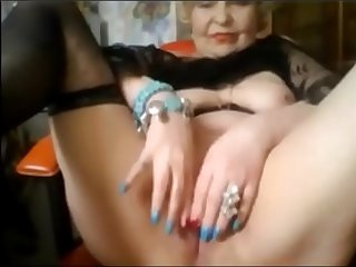 Elegant Elderly Lady Shows Herself On Skype