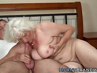 Gray bush grandma jizzed
