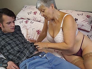 Granny Savana Screwed by Youthful lad menacingfearsome AgedKitchen