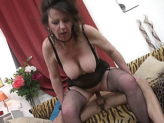 older housewife Ruzena banging her toyboy