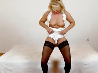 Beautiful czech blonde milf Koko cfnm facesitting