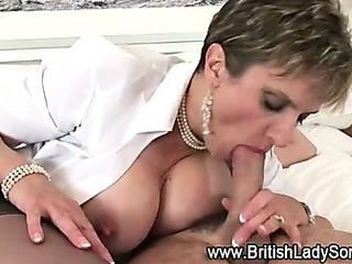 Mature british slut in stockings