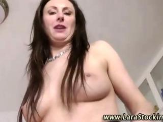 Stockinged british slut fuck