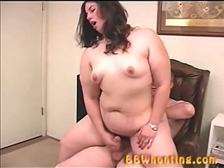 Plumper slut giving handjob