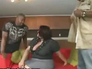 Big Tit Latina Wife Fucks 2 Big Black Cocks