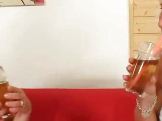 Wellendowed grandma penetrates a milf