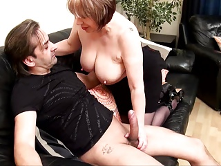 Bawdy British Older receives drilled hard