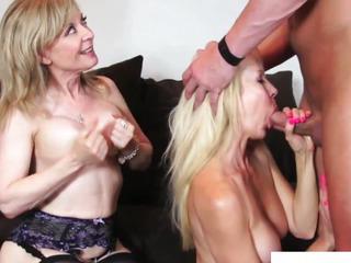 Nina Hartley threeway with mature Erica