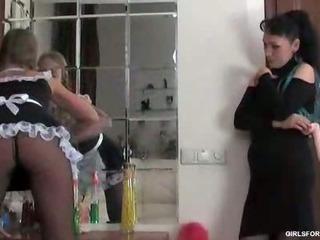 Sexy maid fuck her boss