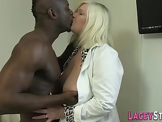Granny enjoys anal with a big black cock