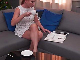 Redheaded granny assfucked