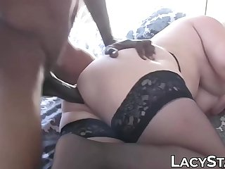GILF Lacey Starr in hardcore interracial anal penetration