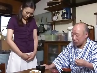 Asian Japanese daughterinlaw admit a fault to fatherinlaw  ReMilf.com