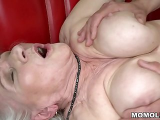 Norma the Sexy Cleaning Lady Finding some Porn on Laptop And Drilled