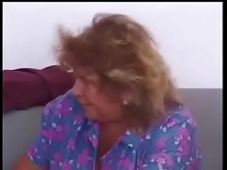 Granny cleans house and cleans cock