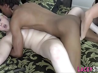 Lacey Starr in interracial threeway